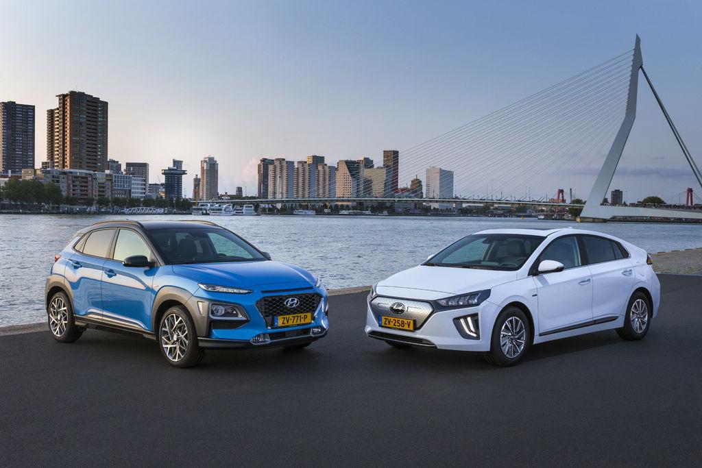 hyundai Kona Hybrid, nový Ioniq Electric
