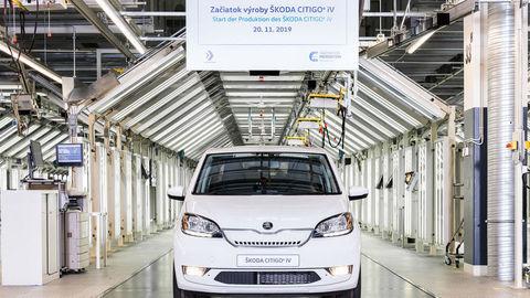 V Bratislave už vyrábajú elektrickú Škodu Citigo-e iV