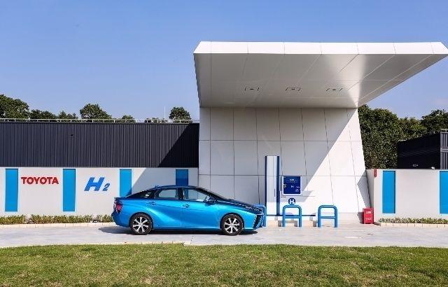 Nemecko vodíkový pohon Toyota