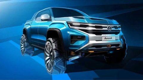 Volkswagen ukázal celkom nový Amarok na prvom oficiálnom obrázku
