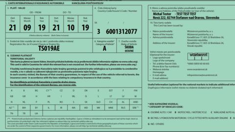 """""""Zelená karta"""" od 1.7.2020 nemusí byť zelenej farby"""