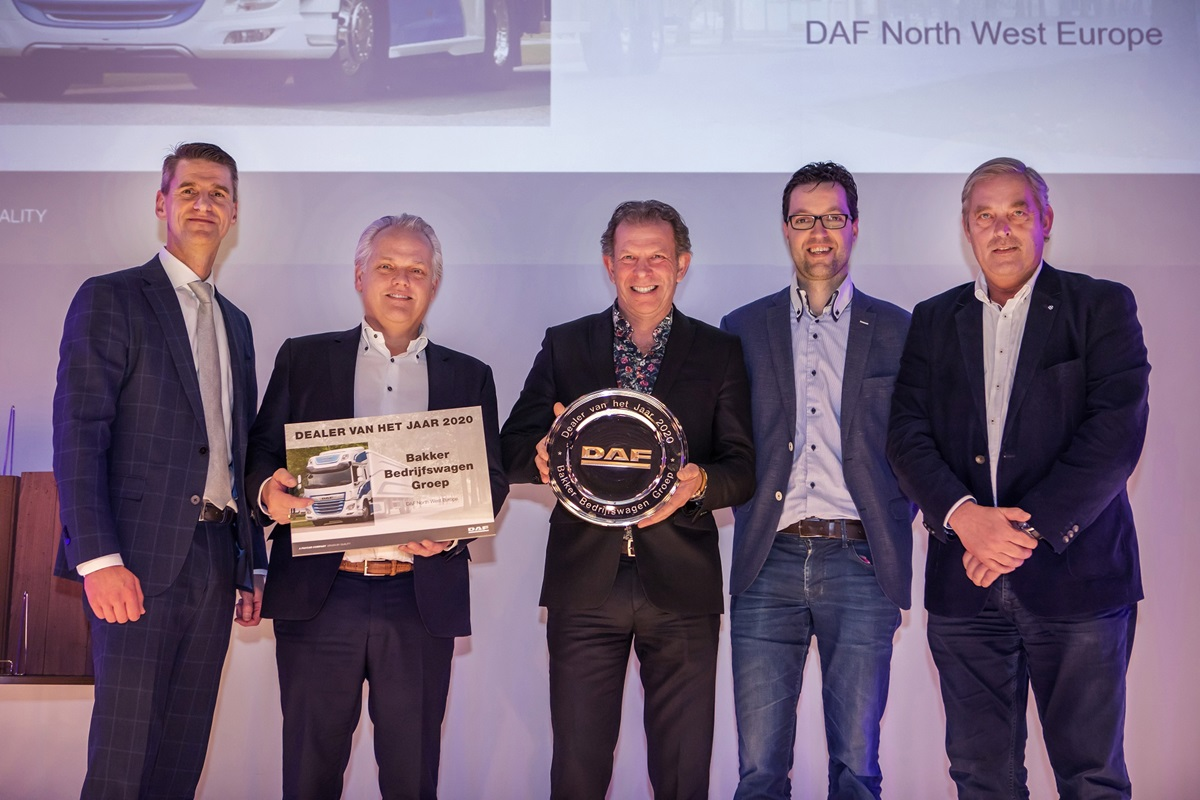 Bakker Bedrijfswagens DAF dealer van het jaar 2020