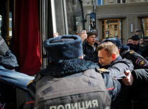 Полиция задержала Алексея Навального в Москве