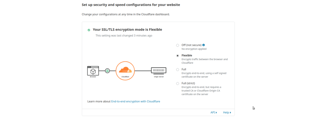 CloudFlare SSL ayarları