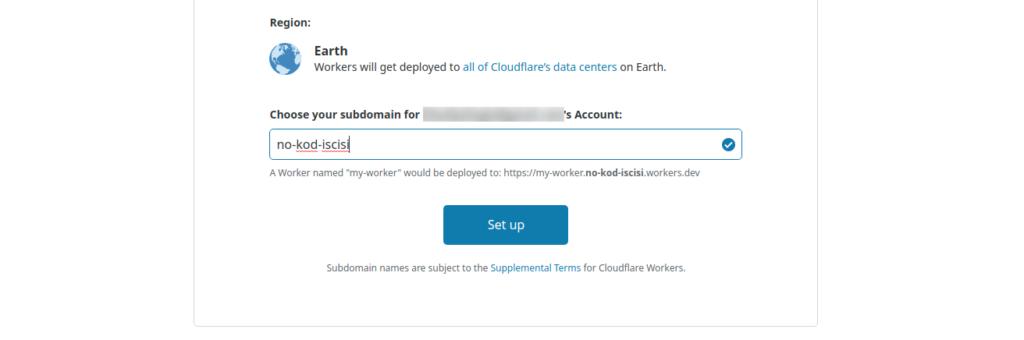 CloudFlare işçiye isim ver
