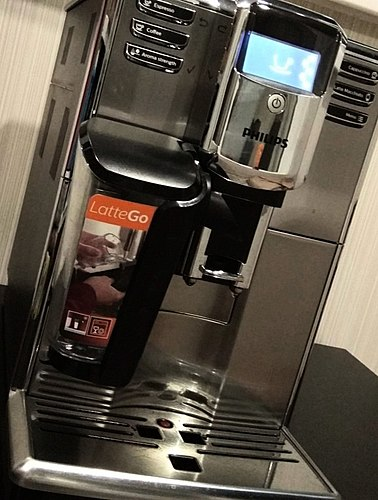 Delicious coffee from a stylish machine