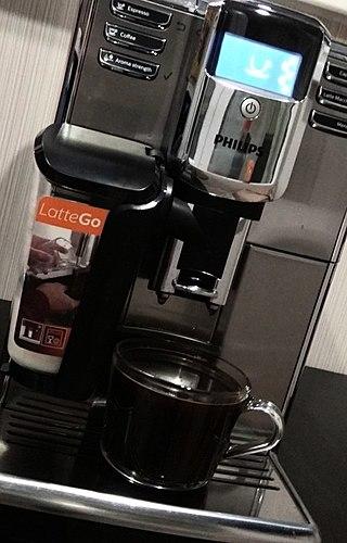 美味的咖啡来自时尚的机器