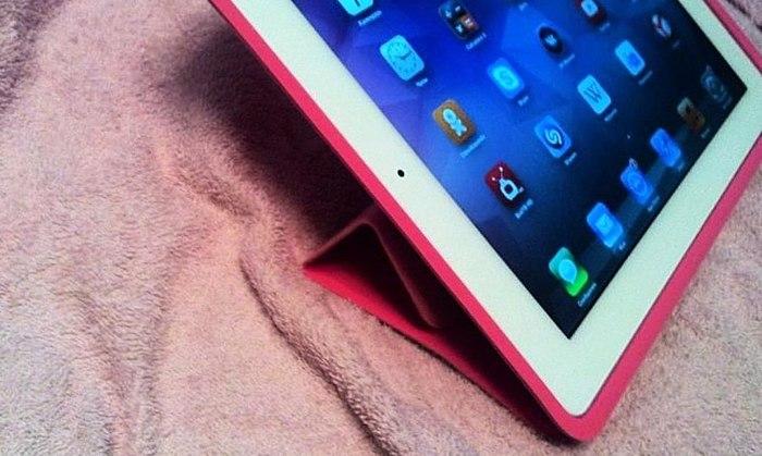 La mejor funda para iPad + mostraré otra posición) de la FOTO