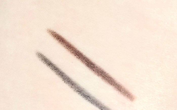 Супермягкие lápices para la precisión de la aplicación. Miramos 02 hot chocolate y 20 lucky lead