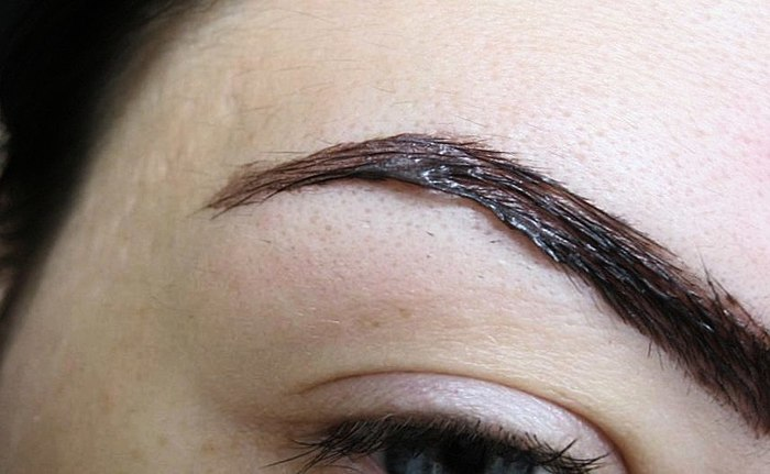 Und haben Sie jemals versucht, das färben die Haare auf dem Kopf malen für Augenbrauen und Wimpern?) FOTO AUGENBRAUEN UND WIMPERN VOR UND NACH DEM LACKIEREN!!!