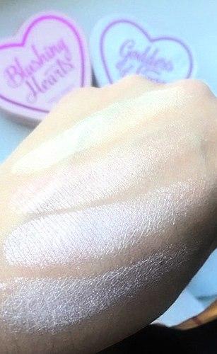 Fantástico blush-хайлайтер! Um certo мастхэв!O Blush Makeup Revolution I ♡ Makeup - Blushing Hearts Triple Baked Blusher
