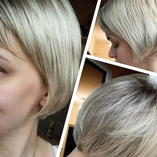 Transforme les cheveux, mais seulement jusqu'à la prochaine lessive. La composition de l'huile n'est pas si sûr, mais la beauté exige des sacrifices! Trop de