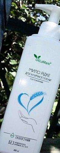 Vloeibare zeep voor intieme hygiëne. NIEUWE, chique, van Delamark met veilige structuur en de uitstekende verzorgende vaardigheden. Een gevoel van zuiverheid en comfort die u verstrekt!