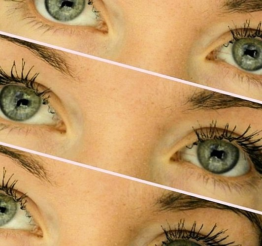 Eyelash curler - got the hang of it! The BEFORE and AFTER photos. With MASCARA and WITHOUT.