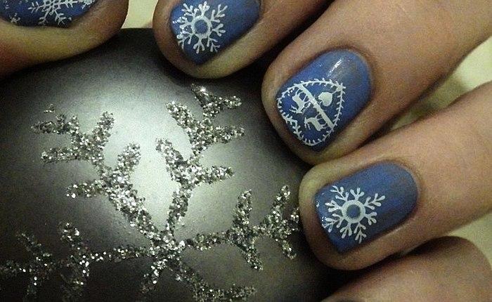 Më e dëshirueshme drive-dimrit - bora e mia të dashura! Foto e dimrit manikyr