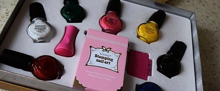 Konad Stamping nail Art. Gold-set.