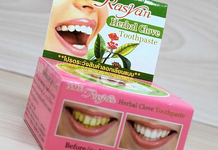 Тайская зубная паста. Нязвыкла, незвычайна, свежа