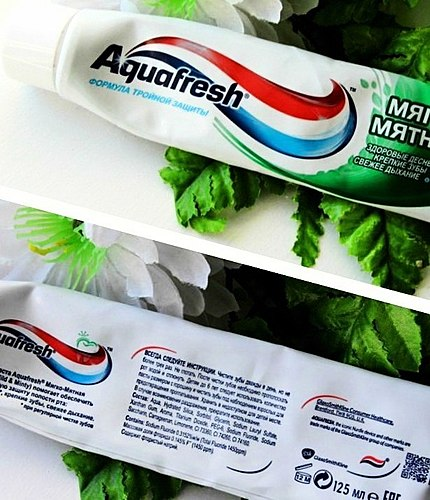 A great toothpaste that gently cleans teeth and gives fresh breath for a long time + photo