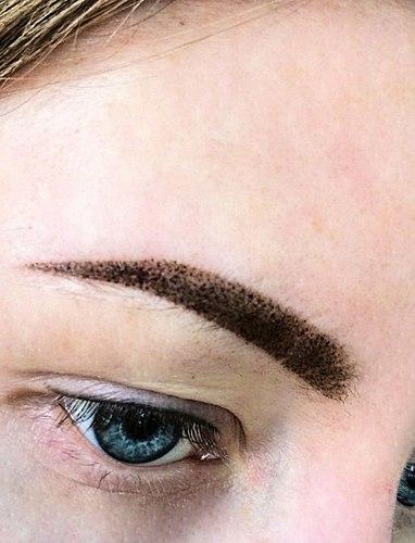 Permanentní make-up v пудровой techniku. Jak se liší od klasické волосковой techniky nebo peří?! Sdílet své резльтатом