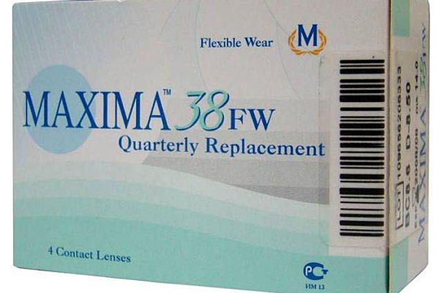 コンタクトレンズMaxima Optics Maxima 38 FW  レビュー