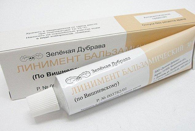 Dış kullanım için merhem, ZAO Green Dubrava Balzamik liniment (Vishnevsky'ye göre) Yorumları