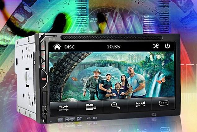 Bilradio Aliexpress 2 Din Bilvideospiller DVD 7 '' HD Berøringsskjerm Bluetooth Stereo Radio Billyd Autoelektronikk Støtte bakfra Anmeldelser