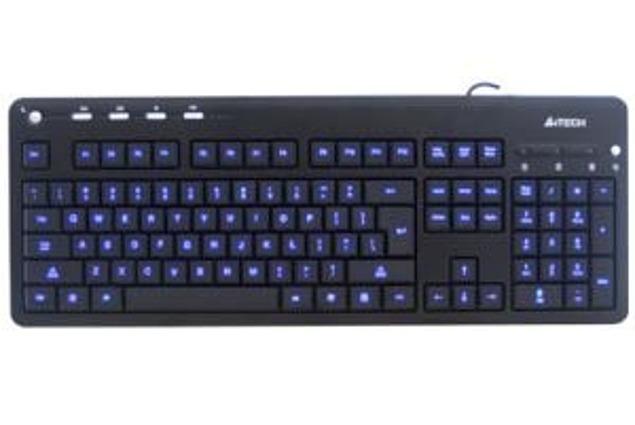 Klaviatuur A4TECH KL-126 koos taustavalgustusega klahvid Arvustused