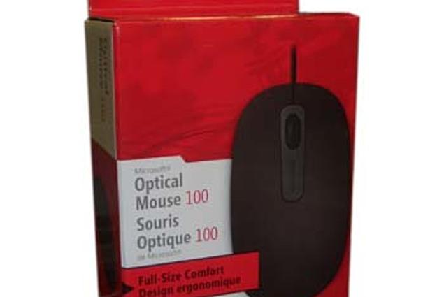 Кампутарная мыш Microsoft Optical Mouse 100 Каментары