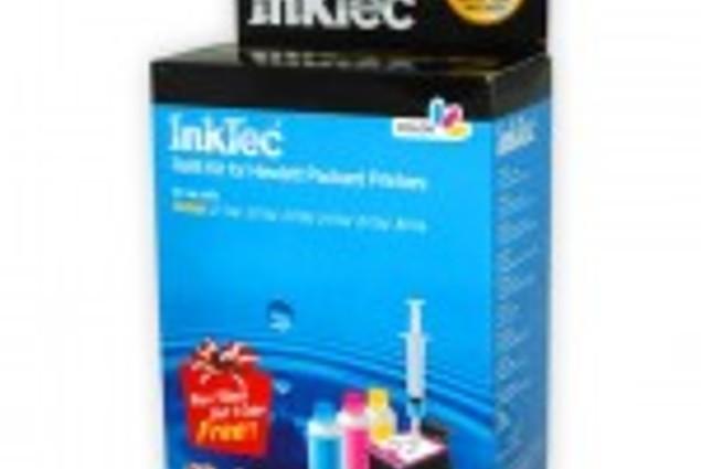 Картрыджы для друкаркі HP InkTec Каляровы заправачны набор HPI-1061C для HP CH562WA(№122), HP CH564WA(№122XL) Каментары