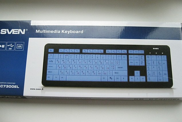 SVEN KB-C7300EL Multimedia Tastatur mat Backlight Stëmmen