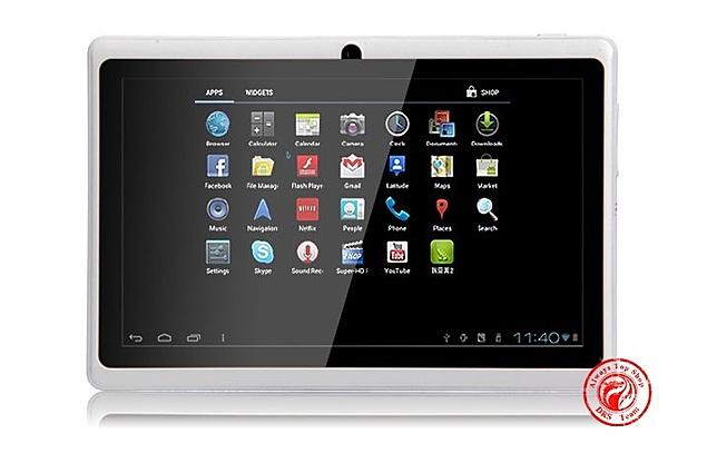 """Aliexpress tabletti 7"""" Allwinner A13 Q88 tabletti pc-5 kohta kapasitiivinen Näyttö + android 4.0 + 1.2 GHz 512MB 4GB + Webcam + Wifi + 2160P video ulostulo Arviot"""