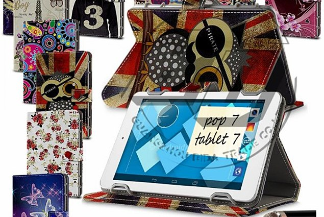 """Tablet case Alcatel 7 inch Tablet Case Universal For Alcatel OneTouch OT Pop 7, Floral Printed Flip PU Leather Stand Case Cover For 7"""" Tab PC Reviews"""