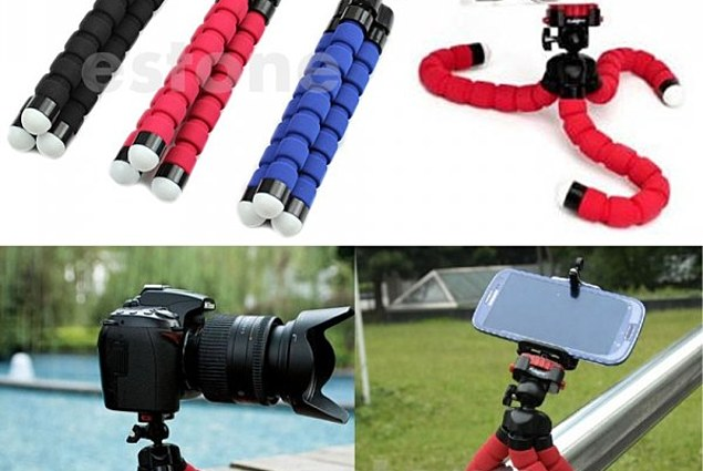 Aliexpress Tripod (Aliexpress) for Phones and Cameras Mini-Portable-Octopus-Flexible-Tripod-Holder-Mount-Stand-For-Camera-Mobile-Phone Reviews