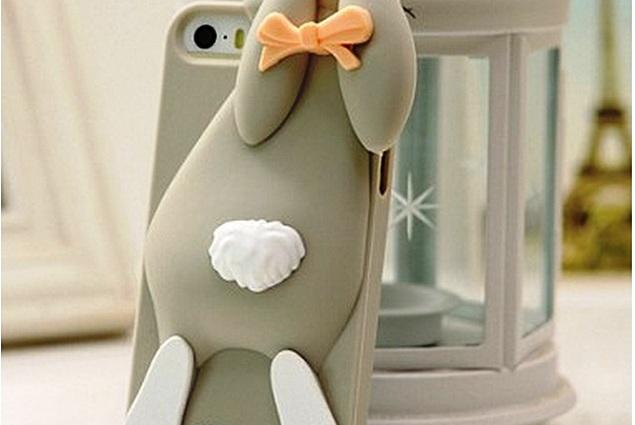 Fodral för mobiltelefon Aliexpress Lyx Moschinoe Mode Tecknad 3D Bunny fall Rabito Kanin Silikon fodral För iPhone 4-4s 5 5s utan att förpackningen Recensioner