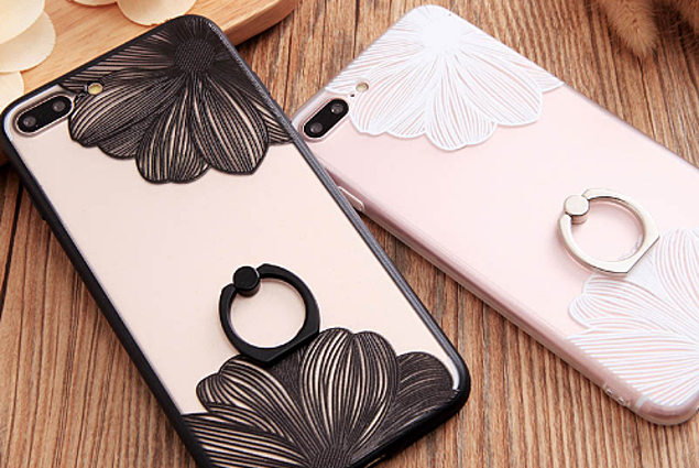 Phone Case Aliexpress Ring Grip Lace Flower Pattern Case For iphone 7 7plus 6 6s 6 plus Case Hollow Retro Vintage Relief Luxury Phone Cases Reviews