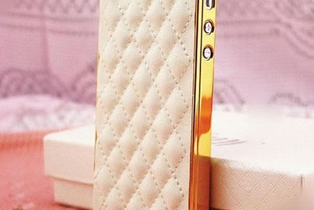 Case for mobile phone Aliexpress Luxury PU Leather Case for Apple iPhone 4 4S / 5 5S Soft Grid Pattern Back Skin Cover  Reviews