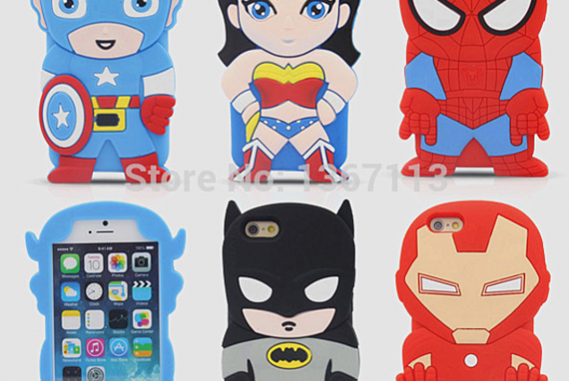 Kaitseraua Aliexpress 3D Cute Cartoon Super Heroes Batman spider-man Captain America Iron Man Soft Silicone Rubber Back Cover Case For iPhone 4 4G 4S Arvustused