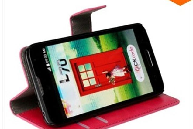 Mobiiltelefoni ümbris Aliexpressi nahast rahakottiga klapiga kaitseümbris LG Optimus L70 jaoks parima kvaliteediga Crazy Matriibuliste telefonikohvritega Voberry Arvustused