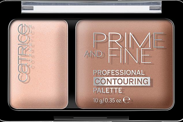 Palett för att konturera ansiktet Catrice Prime och fina. Professionell contouring palett Recensioner