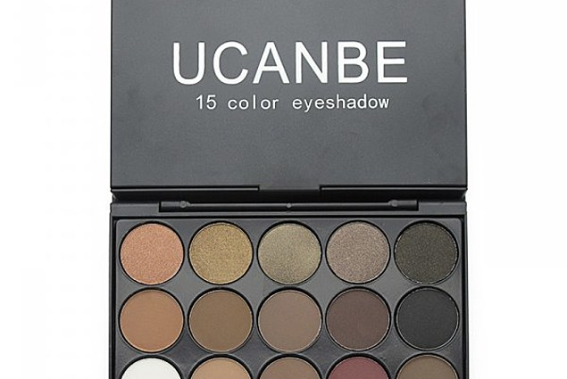 Палетка қабақ Aliexpress UCANBE Brand 5 Different New fashion 15 Earth Colors Matte Pigment Eyeshadow Palette Cosmetic Makeup set Eye Shadow for women Comments
