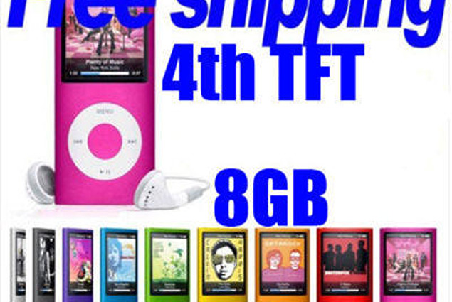 """OEM 8GB Slim 4th 1.8 """"LCD MP3 MP4 FMRadio Player Video MP3 Player חוות דעת"""