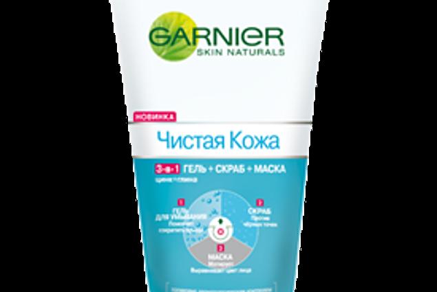 3-i-1 Gel-scrub-mask Garnier Pure skin Anmeldelser