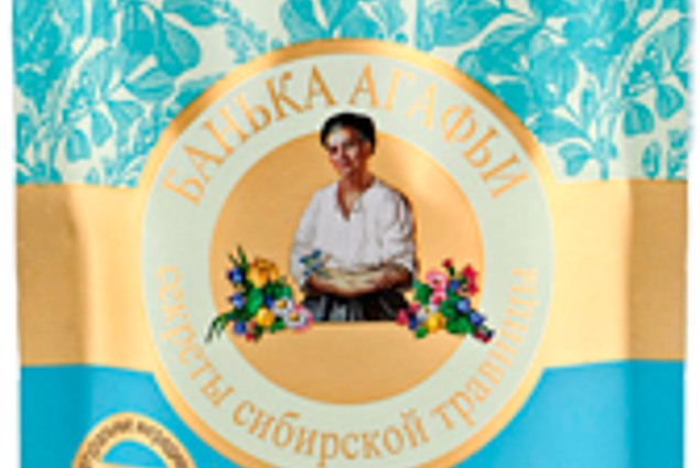 Gesichtsmaske Agafyas Bathhouse-Blaureinigung auf blauem Wasser der Kornblume  Bewertungen