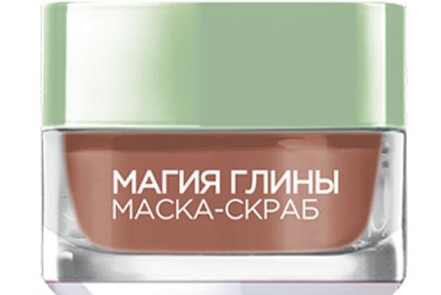 Mask scrub L'Oreal Clay magi. Affoliering og indsnævring af porer. 3 naturlige lerarter + røde alger Anmeldelser