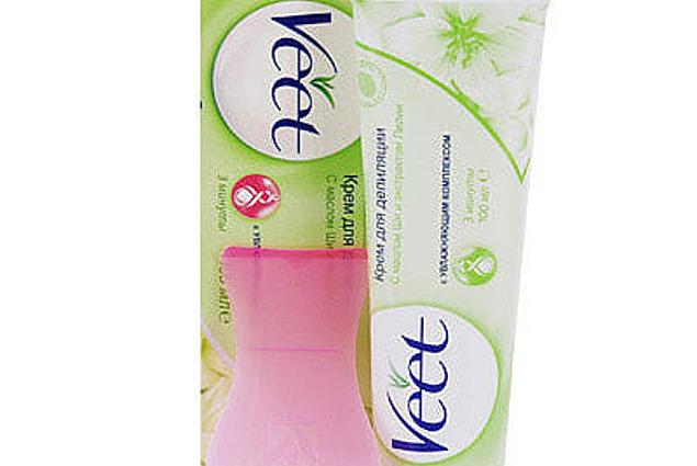Crema de depilación Veet con manteca de karité y extracto de lirio para la piel seca  Comentarios
