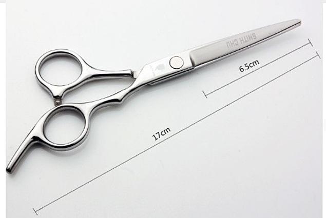 თმის მაკრატელი სმიტი CHU Aliexpress GL37-60-CW ბინა ვერცხლის 17 სმ საჭრელი მაკრატელი უჟანგავი ფოლადის თმის Scissor მიმოხილვა