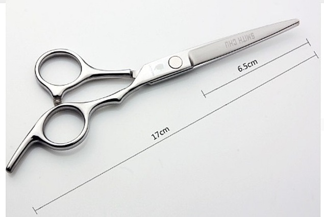 Frizerske škare Aliexpress SMITH CHU GL37-60-CW Flat Silver 17cm Cutting Škare Stainless Steel Hair Scissor Komentari