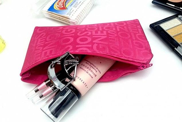AliExpress حقيبة للمرأة مشرق التجميل لمستلزماتها وملحقاتها الشخصية مع سحاب استعراض