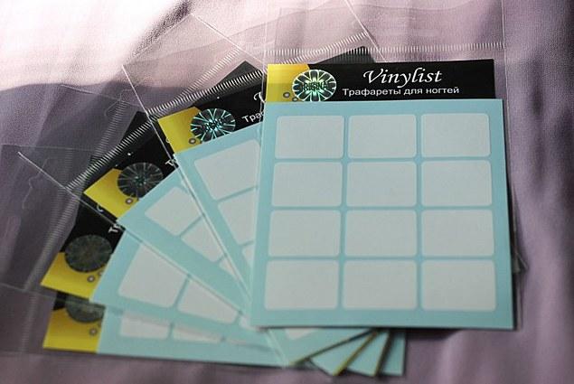 Stensil untuk vinil manicure Vinyl Ulasan
