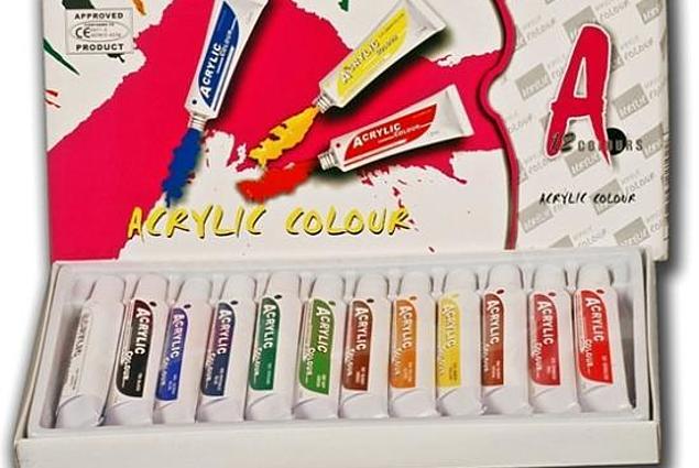 Culori acrilice 12 culori Recenzii